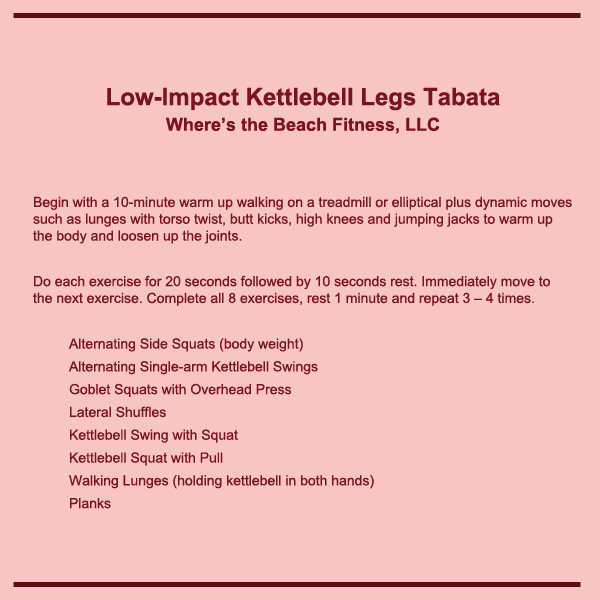 low impact kettlebell legs tabata