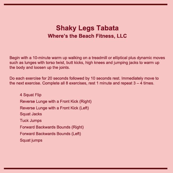 Shaky Legs Tabata